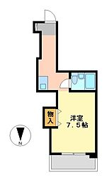 愛知県名古屋市中区伊勢山1丁目の賃貸マンションの間取り
