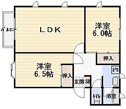 メゾン昴[2階]の間取り