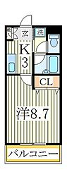 コーポアルチェ[1階]の間取り