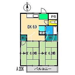 有沢マンション[3階]の間取り