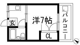 兵庫県川西市小戸2丁目の賃貸アパートの間取り