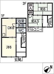 [タウンハウス] 三重県松阪市中央町 の賃貸【/】の間取り