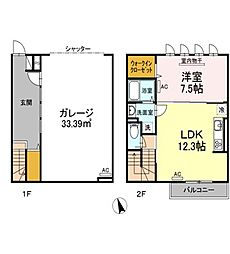 東京都練馬区大泉学園町8丁目の賃貸アパートの間取り