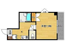K‐house (ケーハウス)[201号室]の間取り