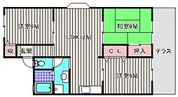 アットハウスMATASUTANI II[1階]の間取り