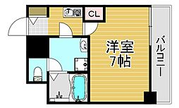 meetMe梅田西 4階1Kの間取り