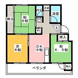 ハイドリーム塩田[4階]の間取り
