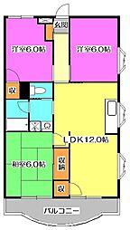 東京都東村山市栄町3丁目の賃貸マンションの間取り