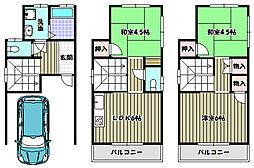 [一戸建] 大阪府大阪狭山市山本北 の賃貸【/】の間取り