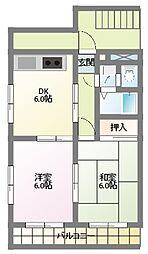 メゾン サンフェリーチェ[3階]の間取り