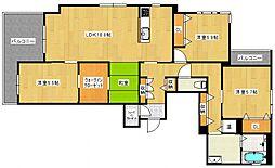 GS野中[A203号室号室]の間取り