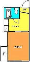 弥生ハウス[201号室]の間取り