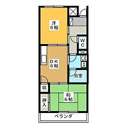 リンピアホープ[3階]の間取り