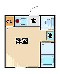 東京都江戸川区平井3の賃貸アパートの間取り