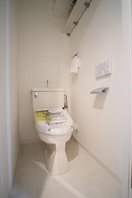 コンパクトなトイレは掃除がしやすくいつでも綺麗に保てます