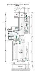 名古屋市営桜通線 高岳駅 徒歩7分の賃貸マンション 5階1Kの間取り