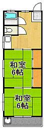 コーポ大関[2階]の間取り