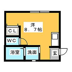 LeGioie(レ・ジョイエ)岩倉駅[2階]の間取り