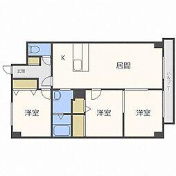 コローレ32[6階]の間取り