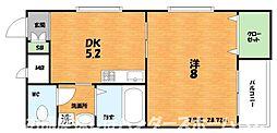 大阪府枚方市田口1丁目の賃貸マンションの間取り