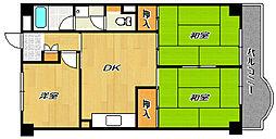 シャルトコンポン[3階]の間取り