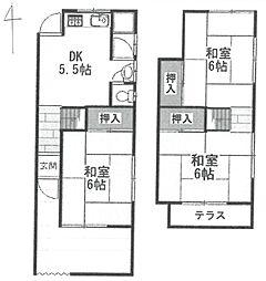 [一戸建] 兵庫県尼崎市常松1丁目 の賃貸【/】の間取り