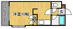 ベルメゾン新宮[205号室]の間取り
