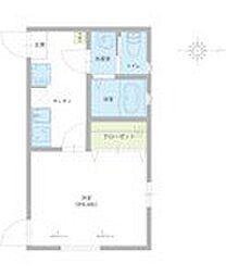 仮称)足立区西伊興1丁目新築アパート 2階1Kの間取り