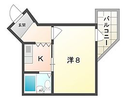 コーポさゆみ[3階]の間取り