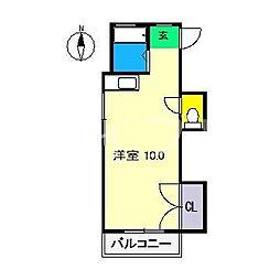 ラパンISHIDATE[3階]の間取り