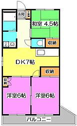 深井マンション[4階]の間取り