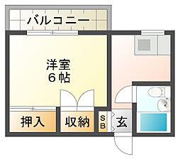 八葉荘[1階]の間取り