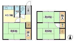 [一戸建] 兵庫県姫路市西今宿8丁目 の賃貸【兵庫県 / 姫路市】の間取り