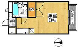 ティクアス[2階]の間取り