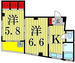 KUコーポ[302号室]の間取り