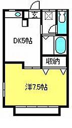 埼玉県さいたま市大宮区堀の内町1の賃貸アパートの間取り