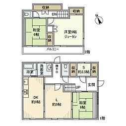 [一戸建] 神奈川県鎌倉市腰越 の賃貸【/】の間取り