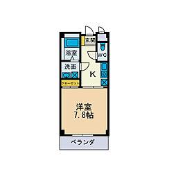 ロイヤルハイツI[2階]の間取り