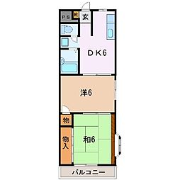 静岡県富士市御幸町の賃貸マンションの間取り