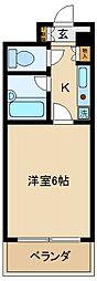 大阪府貝塚市半田の賃貸マンションの間取り