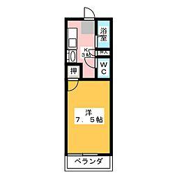 ロイヤルタナカ2[2階]の間取り