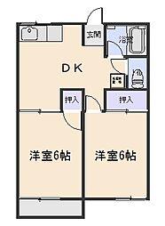 ファミーユカワイ[2階]の間取り