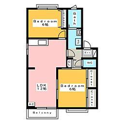 フォーレスいちこ C棟[2階]の間取り