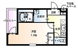 フジパレス堺梅北3番館 2階1Kの間取り
