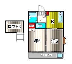 ハイムO.Z[1階]の間取り