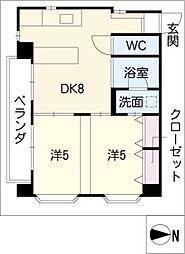 VOGEL−HAUS[3階]の間取り