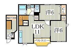 アニメート欅[2階]の間取り