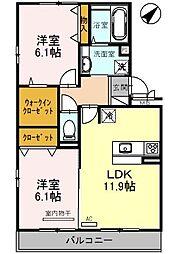 セジュールクオン[2階]の間取り