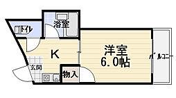 シャルマン大枝[2階]の間取り
