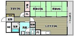狭山ハウス1号棟[4階]の間取り